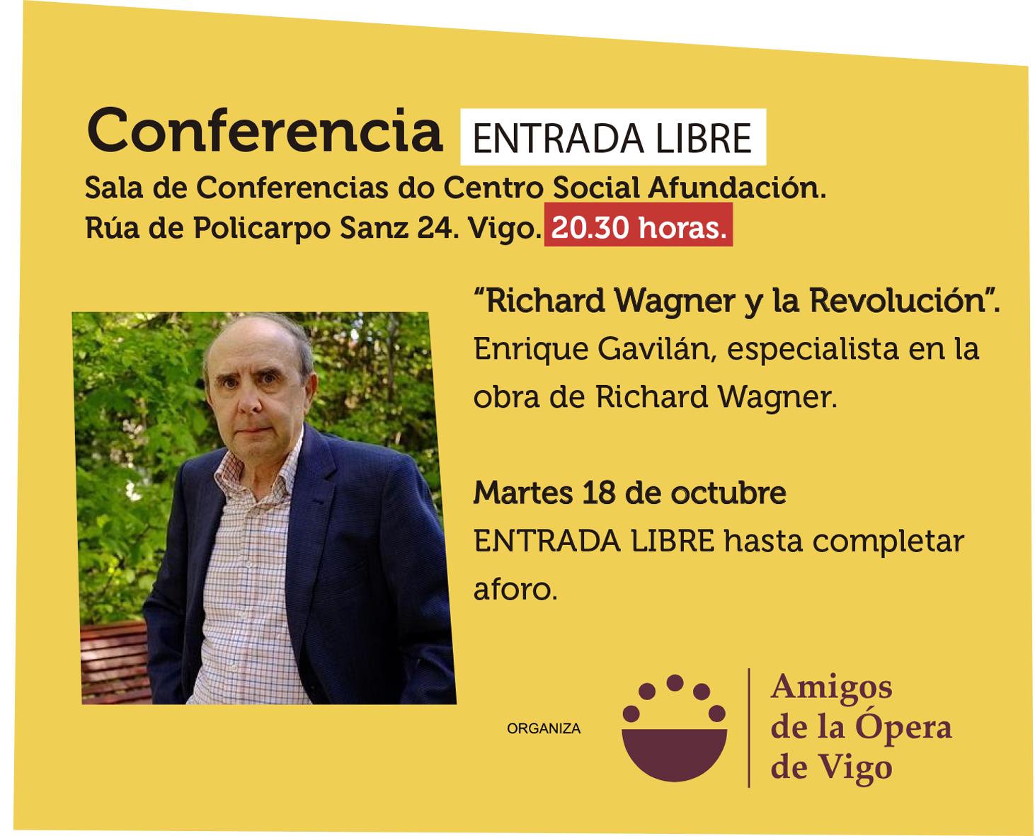 Conferencia: Richard Wagner y la Revolución en Faro de Vigo
