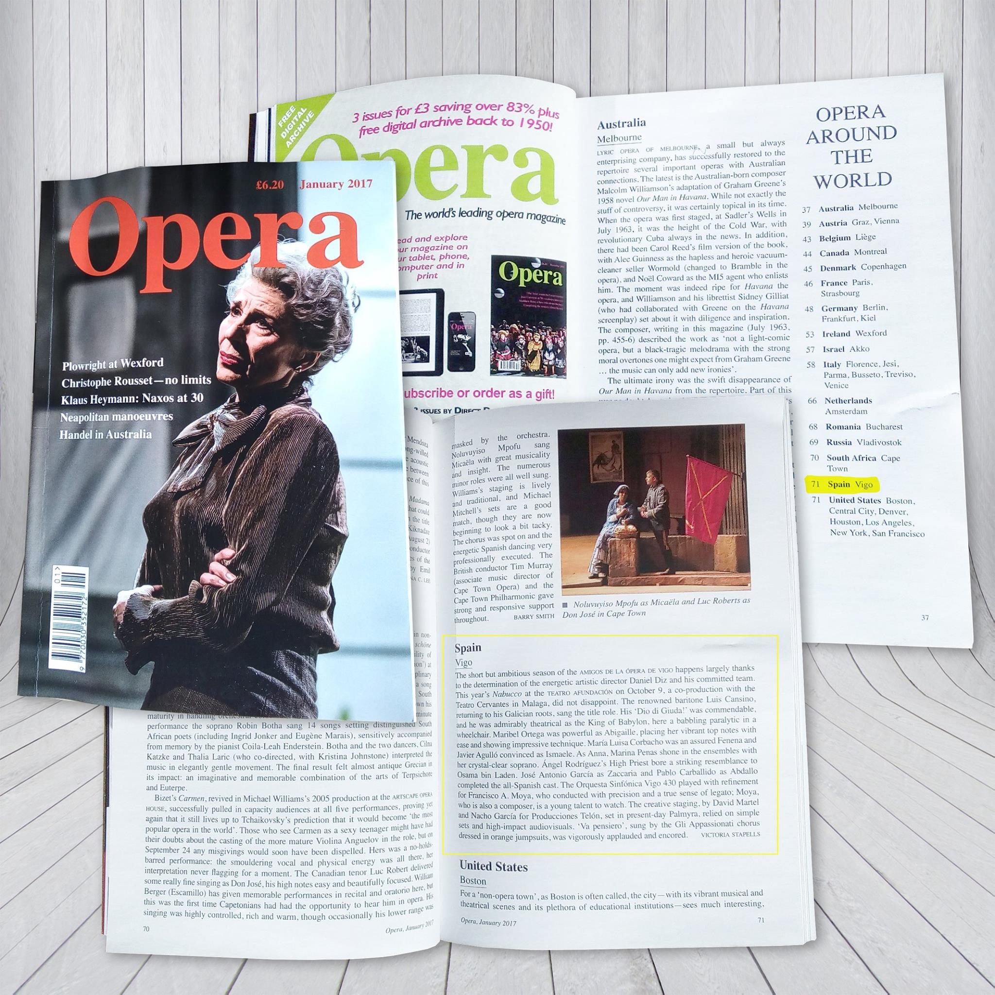 Nuestro Nabucco en revista Ópera