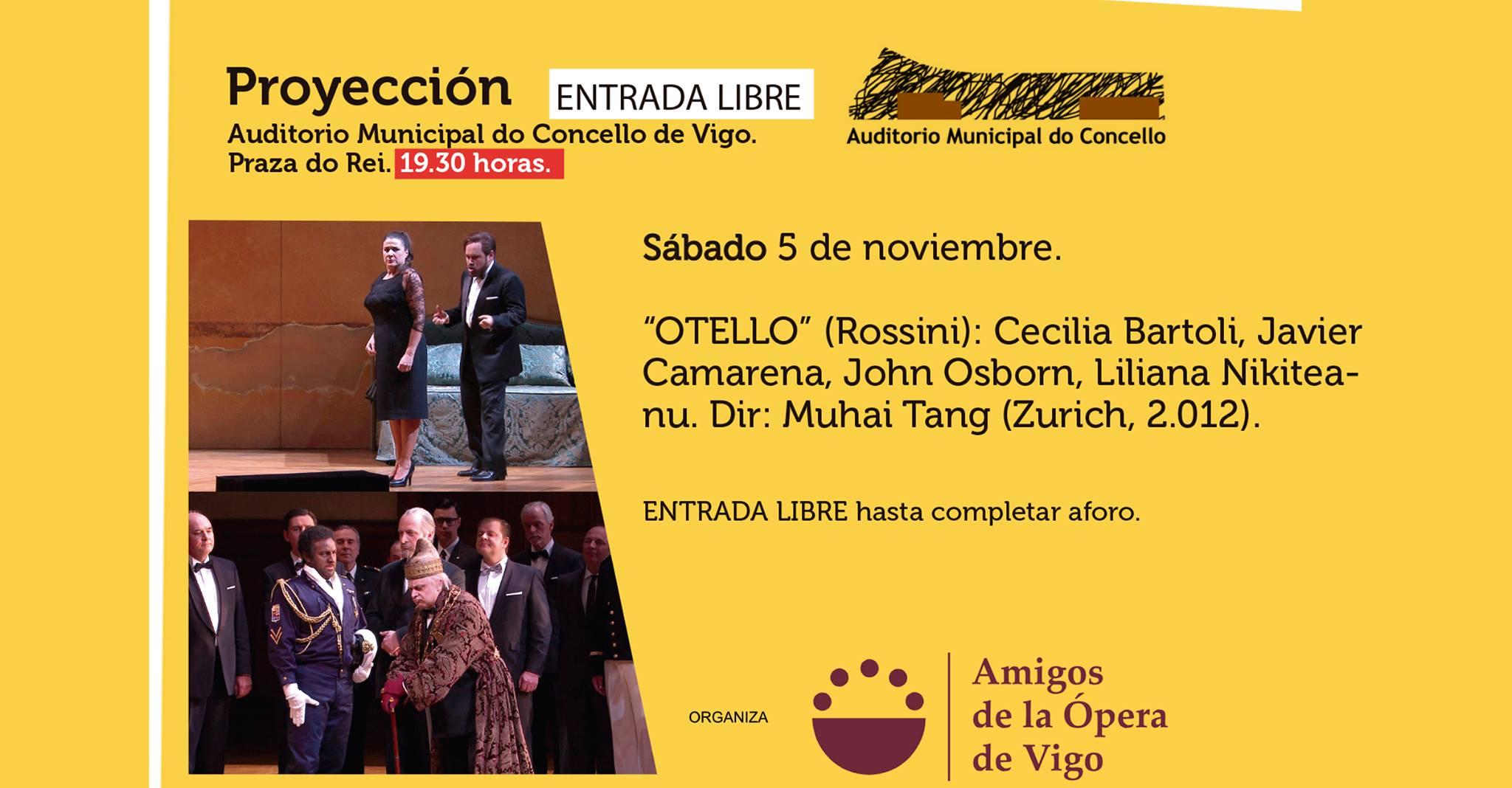 """""""OTELLO"""" Sábado 5 de noviembre 19:30 horas en Auditorio Municipal. ENTRADA LIBRE"""