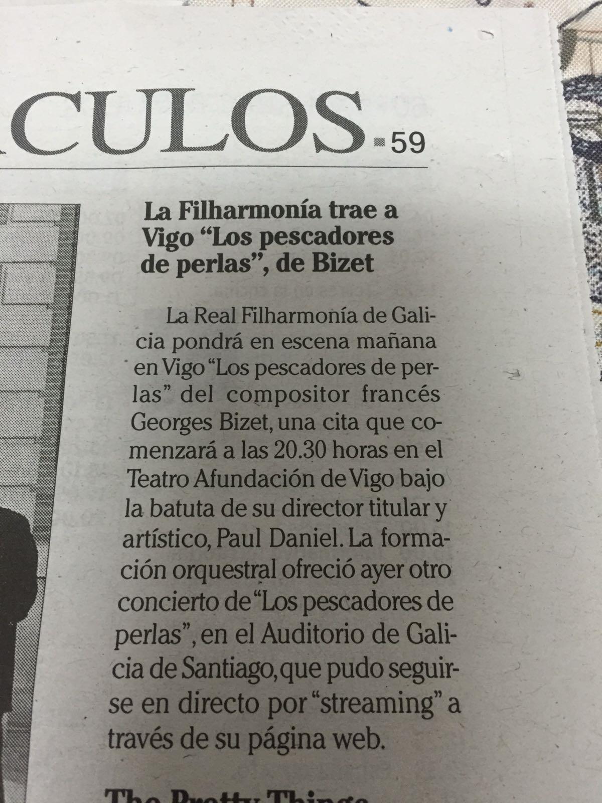 Fragmentos noticias Faro de Vigo y Voz de Galicia