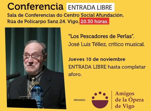 """Conferencia """"Los Pescadores de Perlas"""