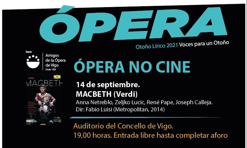 Ópera no Cine. MACBETH (Verdi)