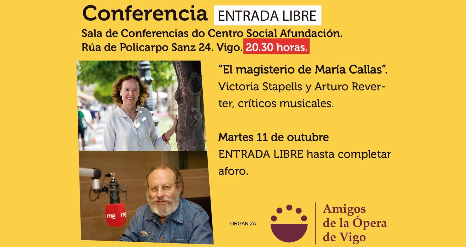 CHARLAS Y CONFERENCIAS EN PONTEVEDRA El magisterio de María Callas