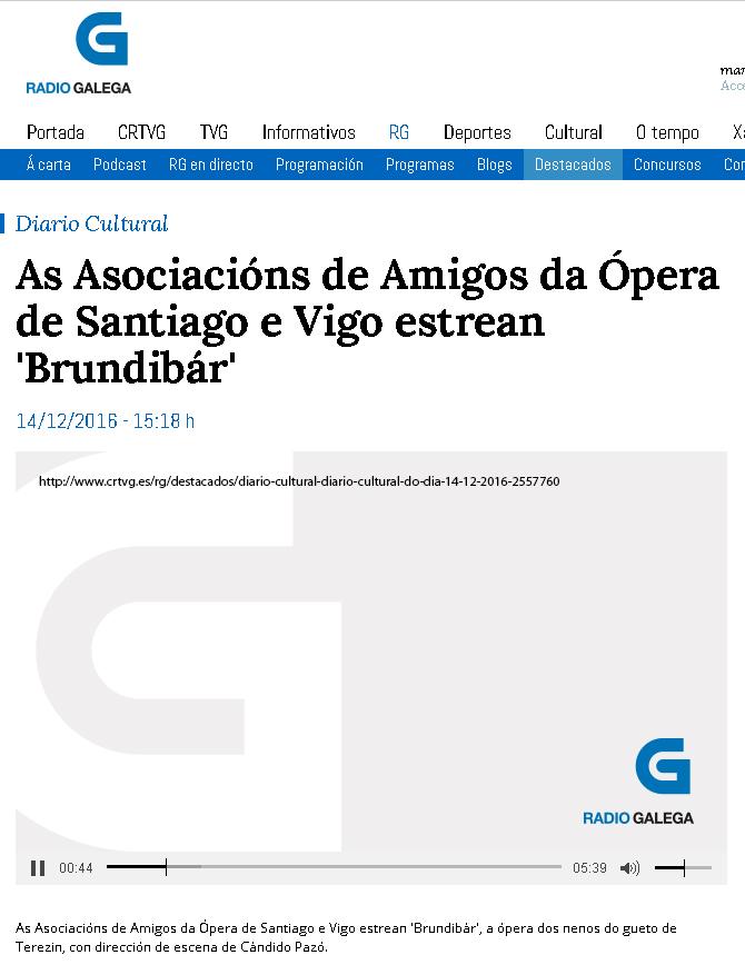 Brundibar en Radio Galega