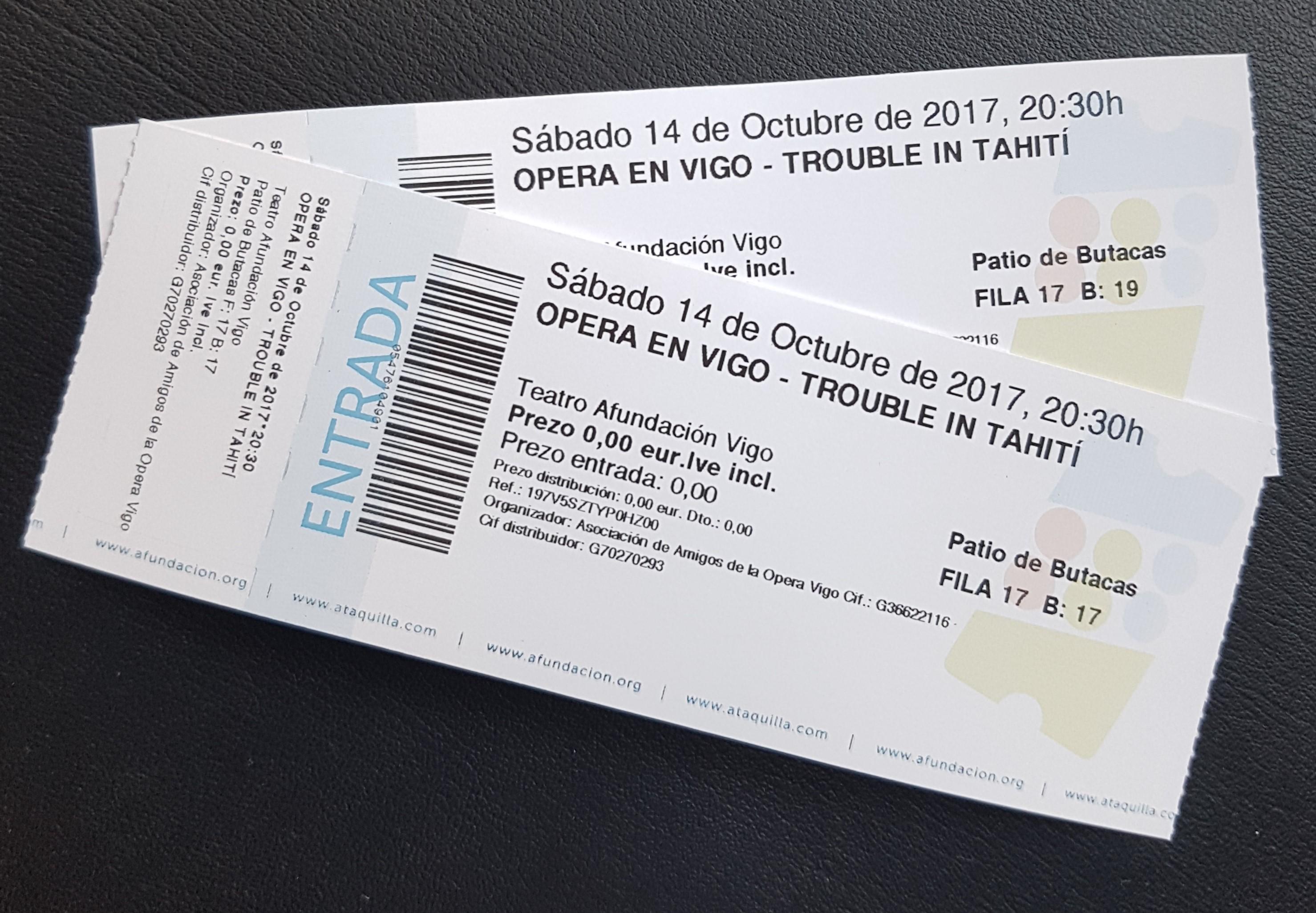Concurso 2 entradas para Trouble in Tahiti